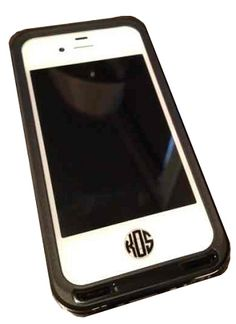 Monogrammed iPhone Button Decal- Set of 3, @Anna Jay