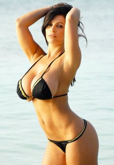Denise Milani hot model #black #bikini #busty #girl #sexy #glamour
