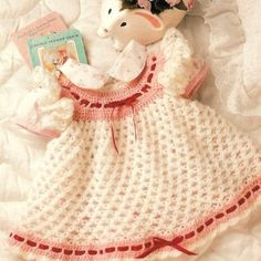 crochet baby dresses free patterns | Crochet Love Knot Baby Dress Pattern for your Valentine Baby