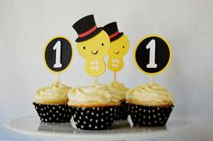 Little Peanut Cupcake Toppers by Pinwheel Lane on etsy