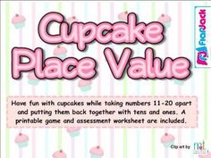 Cupcake Place Value SMART BOARD Game