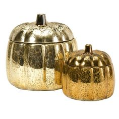 2 Piece Chandler Glass Pumpkin Set