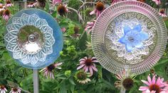 The Secret To Making Garden Art Flowers From Dishes