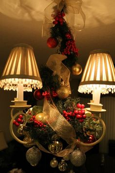 Christmas party light fixture decor