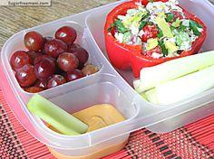 Mayo Free Chicken Salad Meal-To-Go | SugarFreeMom.com #glutenfree