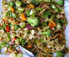 Vegetables and Bowties Salad with Sun-dried Tomato Dressing