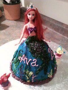 Ariel doll cake.