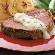 Breaded Beef Tenderloin. Christmas Eve. (With horseradish sauce.)