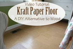 idea, paper floor, floors, paper bags, kraft paper, the craft, diy altern, diy projects, craft rooms