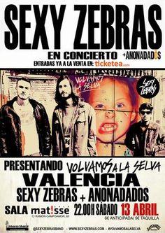 Entradas para Sexy Zebras en Valencia el 13 de abril 2013 en notikumi