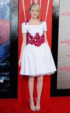 Emma Stone in Chanel (Resort 2013) at the  Los Angeles premiere of  'The Amazing Spider-Man', June 28, 2012.
