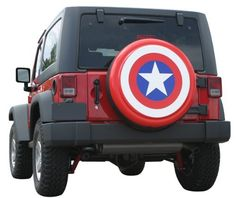 """32"""" Captain America Style Shield Spare Tire Cover - Molded Plastic Face - Boomerang Banner Series Rigid Spare Tire Cover by Boomerang, http://www.amazon.com/dp/B005C5V3T0/ref=cm_sw_r_pi_dp_qcPsqb0HRX423"""