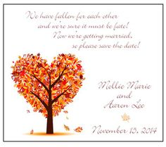 Love this magnet for Save-the-Date cards! Perfect for a November Wedding!
