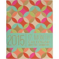 2015 Paper Source Academic Booklet Gold Foil Calendar