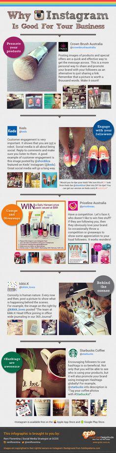 #SocialMedia #Infographics - Instagram For Business #Infografia