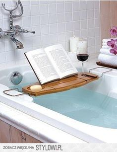 I've always wanted to invent something that would allow me to read books in the tub, safely. Maybe a waterproof kindle? I need something.