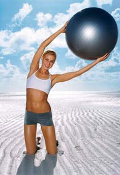 Stability-Ball Workout for a Sexier Stomach exercise workouts, stabilitybal workout, flat abs, stomach workouts, stability ball exercises, fitness exercises, flat stomach, stability ball workouts, ab workouts