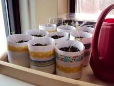 washi tape planters