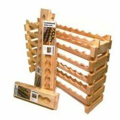 """Wine Rack - Modular 16 Bottle (8 across) (Pine) (11""""h x 33""""w x 11.75""""d) by Wine Appreciation. $59.99"""
