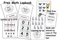 Free Math Lapbook (PreK, K, 1st Grade) | The Homeschool Den