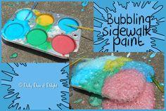 Bubbling Sidewalk Paint!!