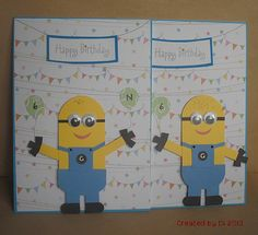 More Punch Art Minions by DiHere - Cards and Paper Crafts at Splitcoaststampers
