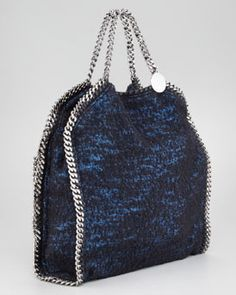 Tweed Falabella Fold-Over Bag by Stella McCartney.