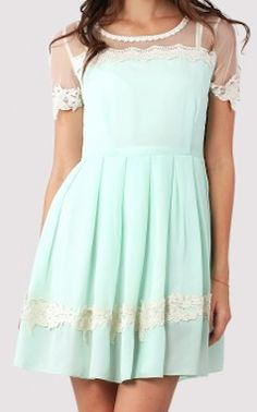 dolly #floral #lace trim #mint dress  http://rstyle.me/n/emjpbpdpe