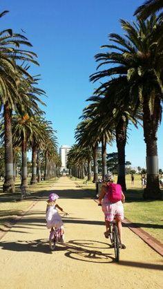 Biking St Kilda Beach, Melbourne, Australia