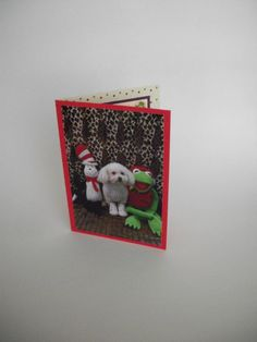 Miniature Toy Poodle Card Kermit the Frog Card Cat by Lillyzcardz, $4.00