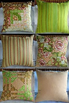 Cushions #patchwork #stippling #sewing