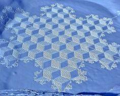 snowflake snow art by Simon Beck