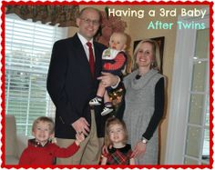 Having a Third Baby After Twins  Her story is inspiring!  Read more at Twiniversity.com