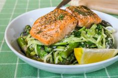 Baked Salmon with Creamy Lemon Dill Pasta