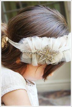 idea, craft, diy ruffles, tulle headband diy, babi, baby girl diy headband, headbands, hair, diy girly headband