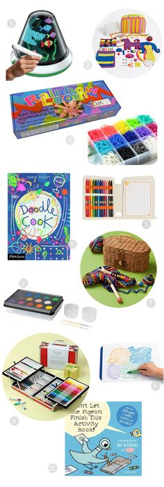 Gift guide: best art supplies for open-ended creativity - all great to have on hand for a rainy day! Great detailed descriptions and age range suggestions.