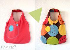 Bolso colorido rojo y chocolate 2 bolsos en 1, Bolsos y carteras, Bolsos, Niños y bebé, Accesorios