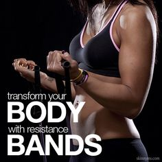 Transform Your Body with Resistance Bands--ideal for an at home workout!  #workout #fitness #resistancebands #skinnyms