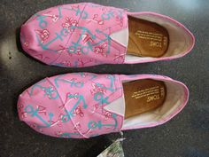 Lilly Pulitzer Inspired Handpainted Toms- 80.00, via Etsy.