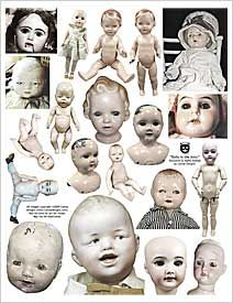 Vintage Dolls collage sheet!