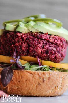 Tex-Mex Beet Burger {Beard and Bonnet} #glutenfree #vegan