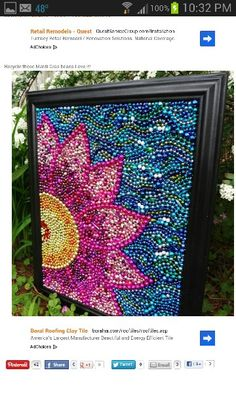 Mardi gras bead art-  Cute idea for all those beads you catch at the parades!!