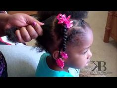 Cute Girls Hairstyles - Natural Hair Ponytails TUTORIAL