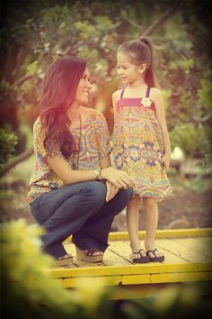 Mom and daughter vintage photography.