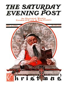 """""""Santa's Expenses"""" By Norman Rockwell. Issue: December 4, 1920. ©SEPS. Giclee print available at Art.com."""