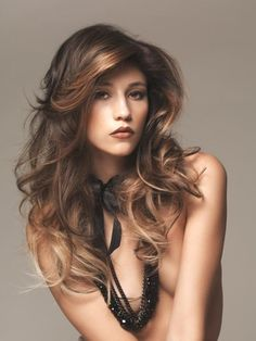long hair layered cuts | 30 Sexy Brown Hair With Caramel Highlights - SloDive