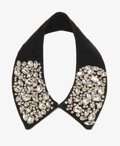 Rhinestoned Velveteen Collar #partyperfect