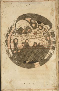 16th century copy of an ancient Persian cosmological map