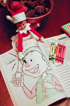Elf- coloring book fun