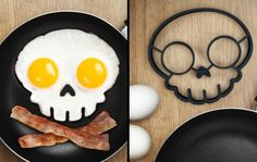 Skull-shaped egg mold